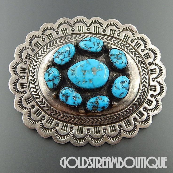 bracelet james sterling turquoise pin mountain navajo geraldine ebay