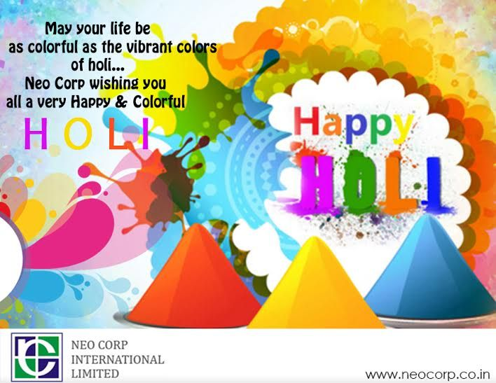 On this beautiful festival of vibrancy and colours, ‪#‎neocorp‬ wishes you and your family all the bright hues of life. Have a colourful Holi!.  ‪#‎happyholi2016‬ ‪#‎indianfestival‬ ‪#‎ncil‬ ‪#‎bestwishes‬
