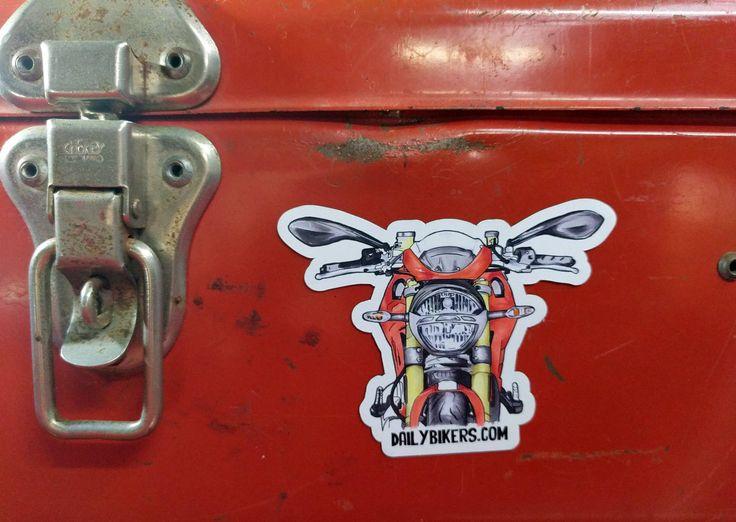 Motorcycle Fridge Magnet | Ducati Monster 1200 illustration by DailyBikers on Etsy