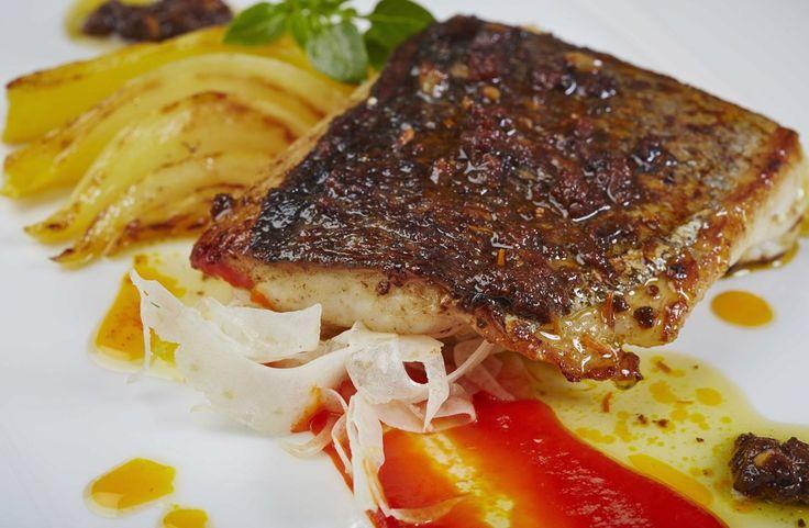 A Recipe by Éric Chavot   FOUR Magazine. sea bream, tapenade and saffron fennel