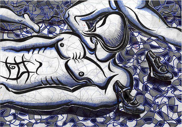 ramon-echavarria-art-Hombres y tacon | by Ramon Echavarria