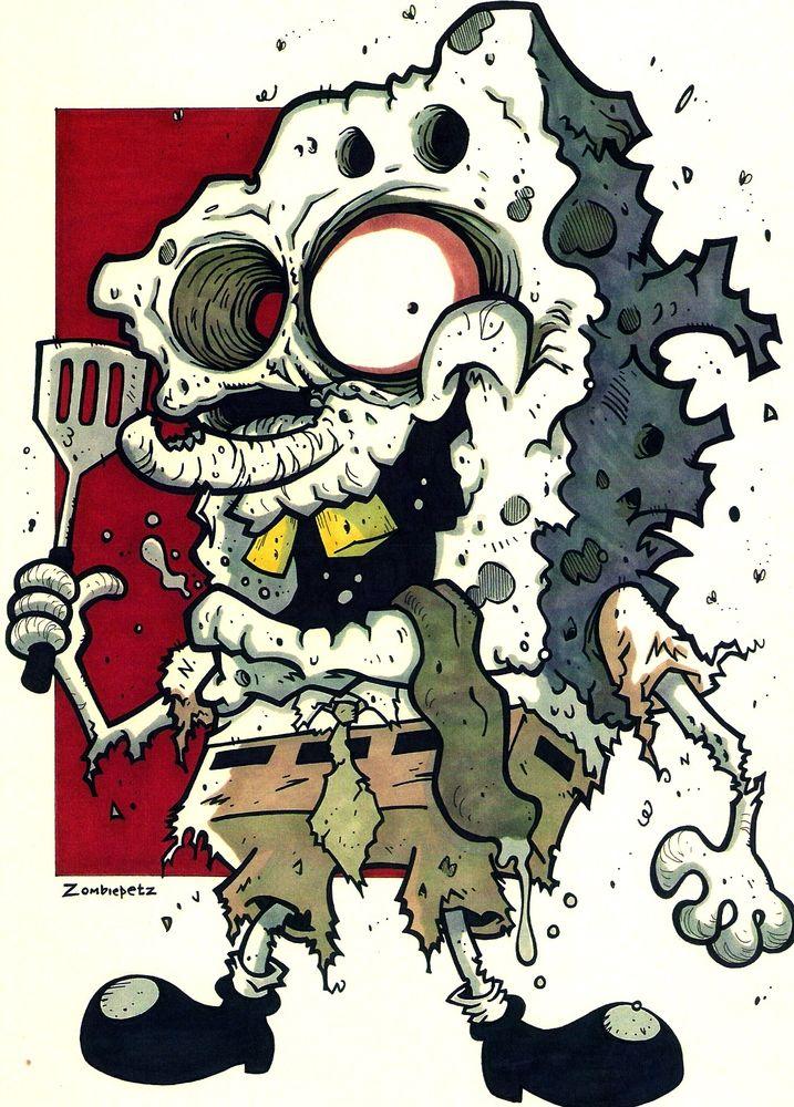 zombie spongebob zombies pinterest zombie art cartoon and