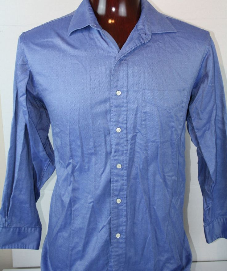 Brooks Brothers Button Front Mens Dress Shirt Long Sleeve 17 32/33