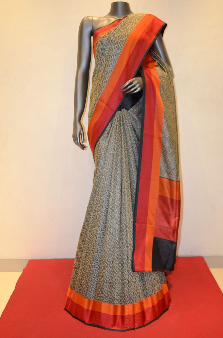 Exquisite Hand Woven Pure Tussar Silk Saree Product Code: AB206935 Online Shopping: http://www.janardhanasilk.com/Saree-Collections/Tussar-Silk-Saree?product_id=3363&limit=25