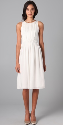 Tibi Ruched dress.Would make a great rehearsal dress.