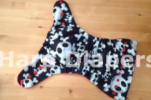 Skullz, Red Hybrid OS Cloth Diaper