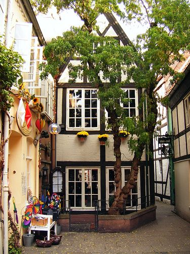 Schnoor, Bremen, Germany. oh my gosh, i miss it so much! Had the best tea in the tearoom upstairs!