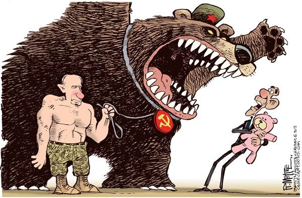 Putin Bear COLOR#145261 BY RICK MCKEE, THE AUGUSTA CHRONICLE  -  3/4/2014 12:00:00 AM