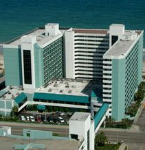 Landmark Resort; Myrtle Beach, SC... The hotel we stayed at during our first beach visit! It was relatively cheap and had great amenities... TONS of pools, lazy rivers, even putt putt! And our 14th floor view was incredible. <3