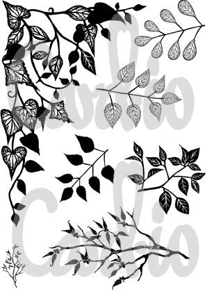Greenery 1 - A6 Clear Stamp Set