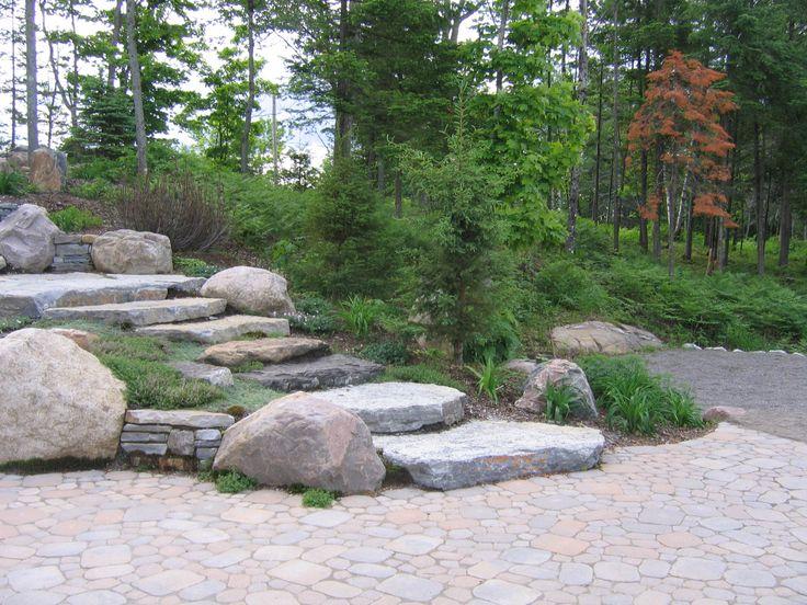 escaliers de pierres naturelles la longueur des pierres donne de l 39 a ration et de la l g ret. Black Bedroom Furniture Sets. Home Design Ideas