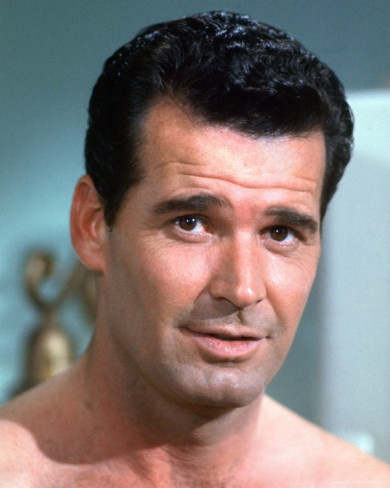 James Garner - What a handsome actor.  The Rockford Files was a show I watched with my grandmother and my mother.