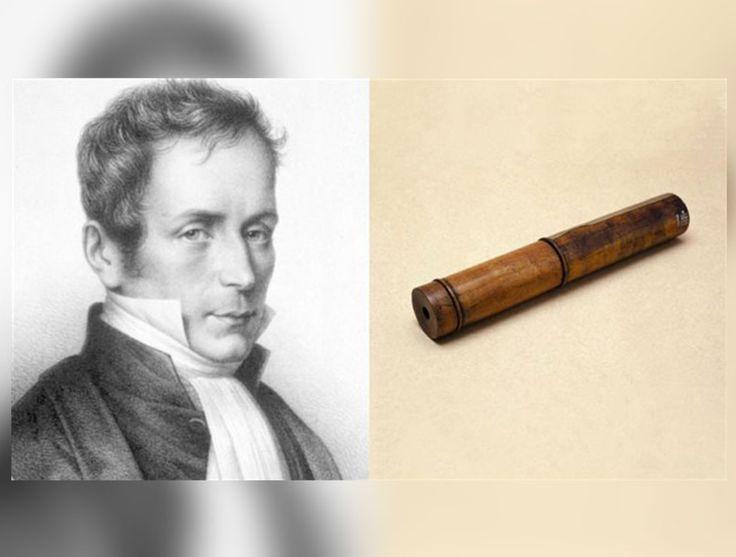 #Salud El 17 de feb. de 1781, nace el médico René Laënnec.  En1816, debido al pudor que sentía al acercar su oído al pecho de las pacientes y también a la dificultad para percibir ruidos en pacientes con sobrepeso, creó un cilindro de 30 cm de largo, origen del estetoscopio.