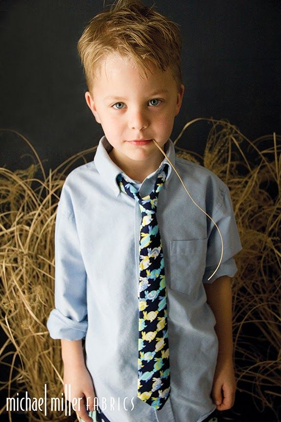 """boy tie in Cynthia Rowley Spring """"OH BABY!"""" fabric line for Michael Miller Fabrics; photo and style by Trenna Travis Design Studio"""