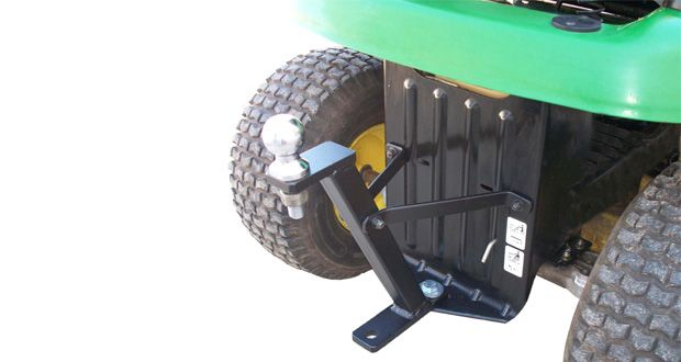 Riding lawn mowers have the power and the low center of gravity to be natural towing machines. With dual attachment points — one for a trailer hitch ball and one for a hitch pin — the new Great Day…
