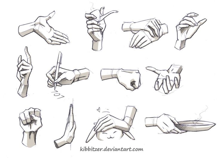 Hands Reference 2 by *Kibbitzer on deviantART