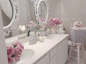 My Shabby Chic Home ~ Romantik Evim ~Romantik Ev: Romantic shabby chic :my simply shabby chic bathroom