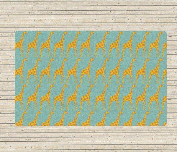 Tapis chambre bébé girafes  http://www.homelisty.com/tapis-chambre-bebe-29-tapis-vraiment-craquants/