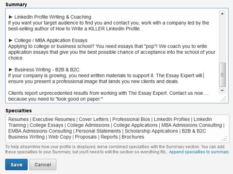 25 best ideas about linkedin summary on pinterest - Linkedin Resumes