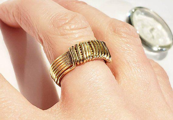 knuckle ring. index finger ring 14k solid gold leaf ring leaf bypass ring