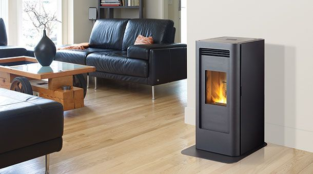 Regency Greenfire Pellet Stove (GF40) small free standing Pellet Stove features a modern compact design.