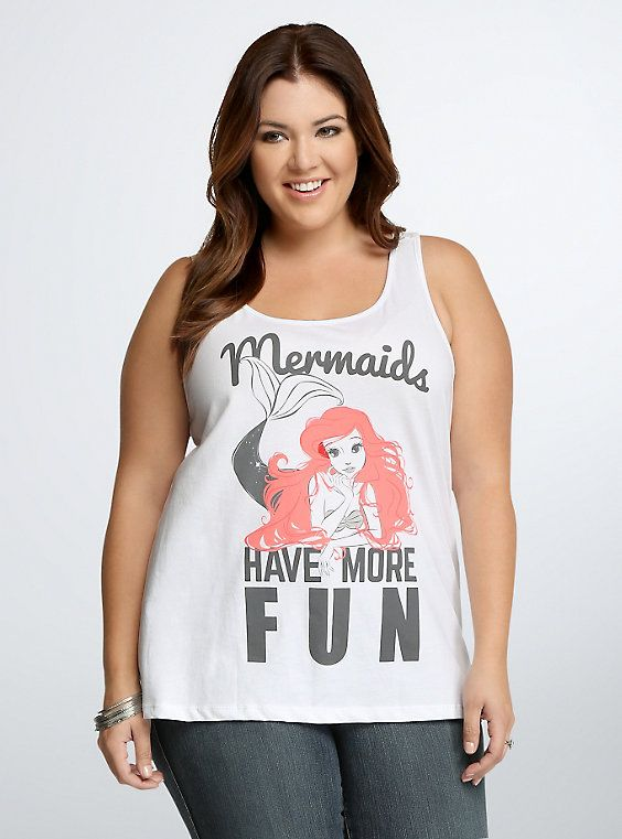 Disney Ariel More Fun Tank Top, CLOUD DANCER