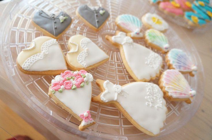 結婚式をアイシングクッキーで華やかに… | 名古屋・栄アイシングクッキー・アロマワックスバー・ウエディングを手作りできる教室おしゃれ★すいーつ