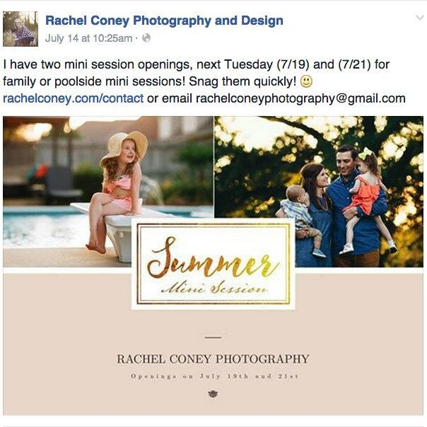The example of using our photo templates. Your photo will look stunning to attract your clients!  Keep support our talented photographer, Rachel Coney Photography