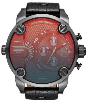 Diesel DZ7334 Chronograph Herrenuhr Little Daddy Leder Armbanduhr Uhr NEU & OVP