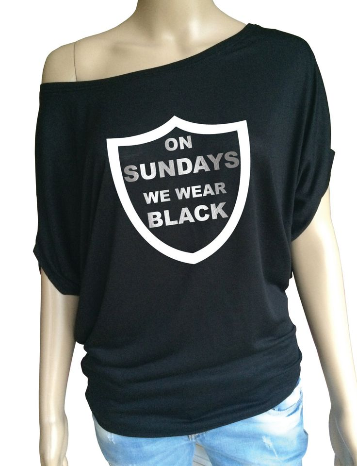 Ladies American football Oakland Raiders inspired loose black top. by iganiDesign on Etsy