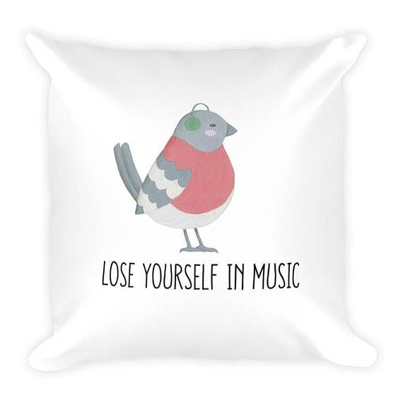 Loose Yourself in Music 18x18 Couch Decor Stuffed