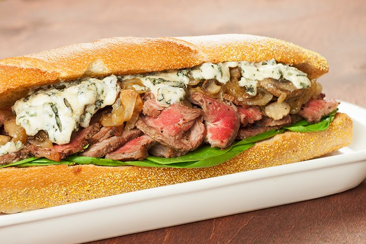 Grilled Rib-Eye Sandwich with Blue Cheese from www.MyGourmetConnection ...