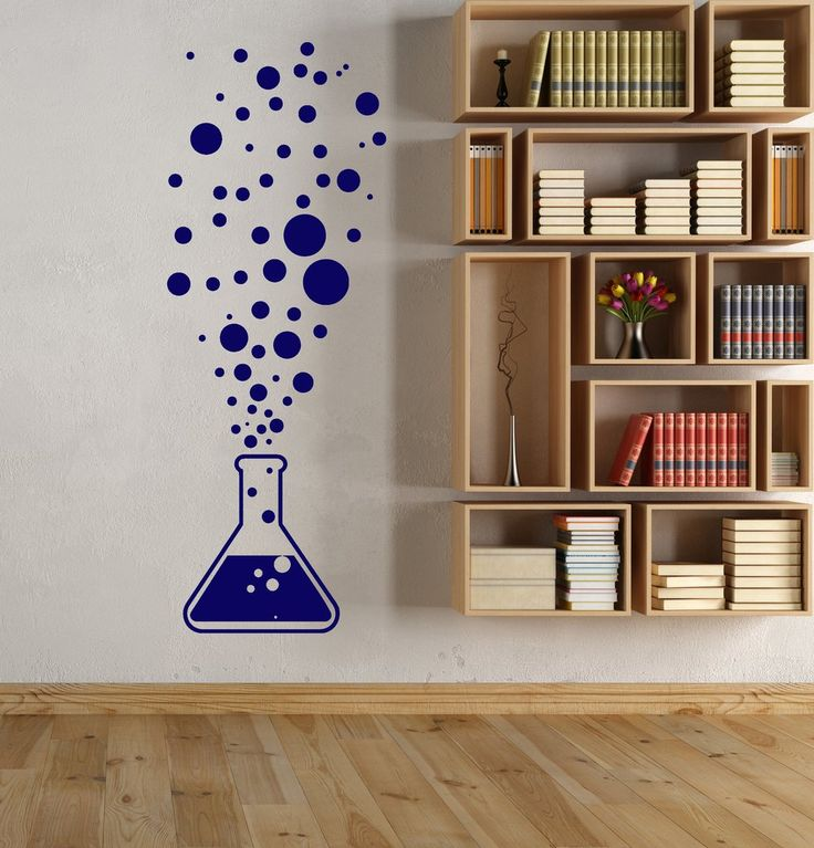 Vinyl Wall Decal Chemistry Test Tube Science Scientist Bubbles Stickers (1717ig)