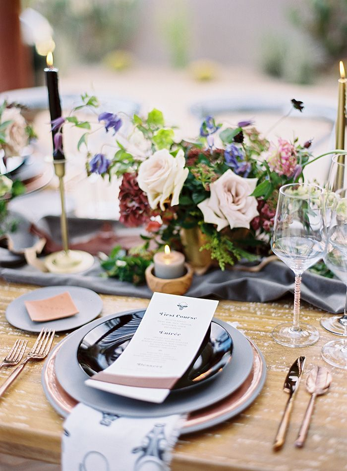 Organic Modern Place Setting with Patterned Napkins