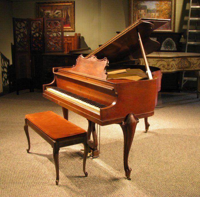 Huntington apartment size baby grand piano in the louis xv for What are the dimensions of a baby grand piano
