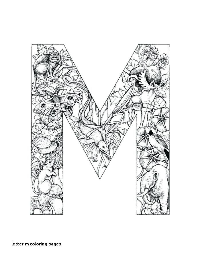 Letter M Coloring Pages Letter M Is For Mouse Coloring Page With