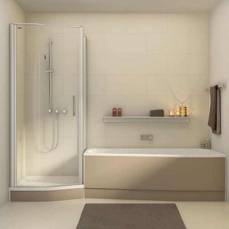 Oltre 10 fantastiche idee su piccola doccia per il bagno su pinterest doccia bagni e idee per - Bagno piccolo con vasca ...