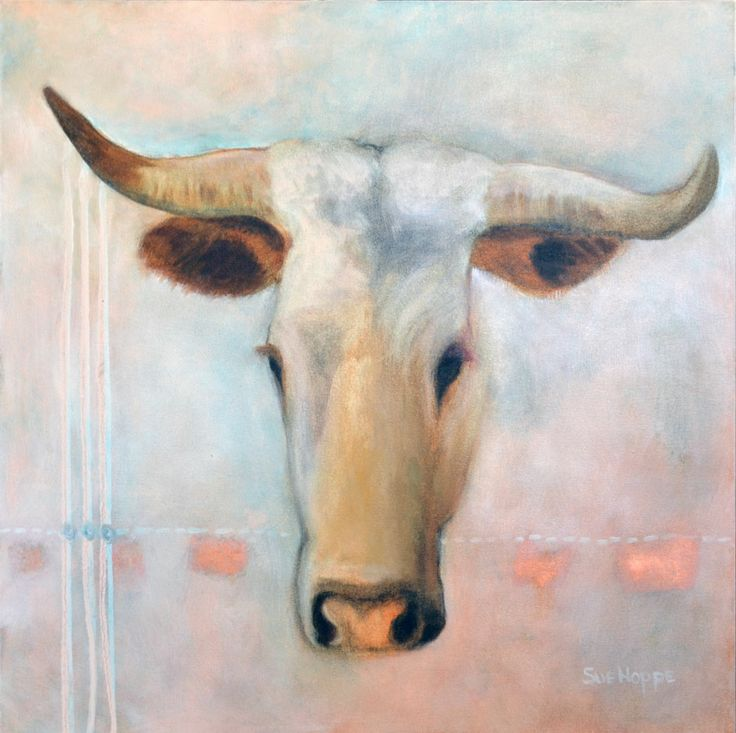 Value Her II oil on canvas painting by Sue Hoppe