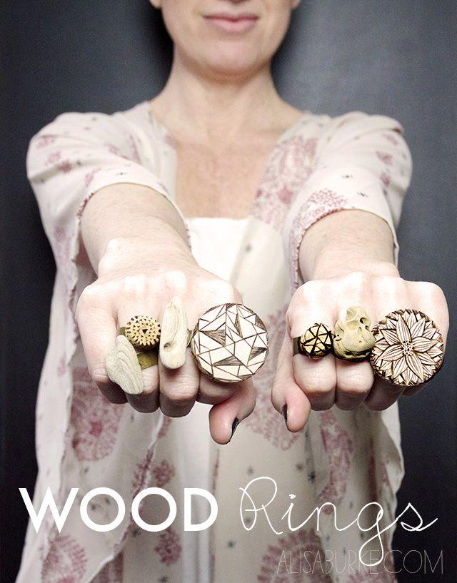 alisaburke: wood rings DIY