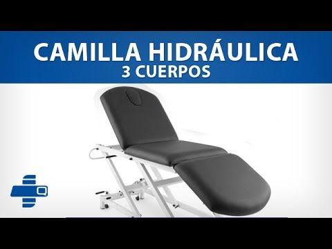 Camilla hidráulica de 3 cuerpos (501-CHQM3062) #camilla #fisioterapia #medicina #salud