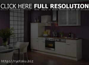 desain ruang dapur minimalis modern yang cantik White Kitchen Ideas With Purple Wall Desain Dapur Putih Dekorasi Dapur Rumah Modern