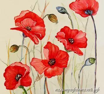 картины маслом на холсте цветы маки: 18 тыс изображений найдено в Яндекс.Картинках