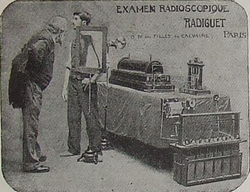 The Cathode Ray Tube site, X-Ray tubes. Early fluoroscope. (Yikes!)