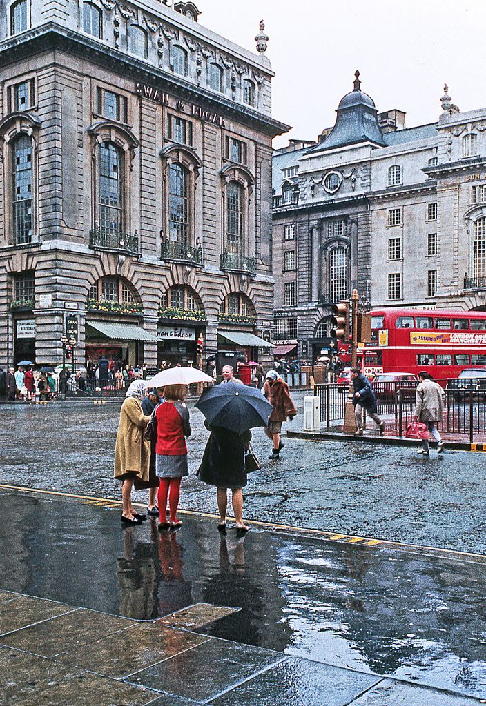 London, Sept 1967. Under the umbrella by Jean Paul Margnac