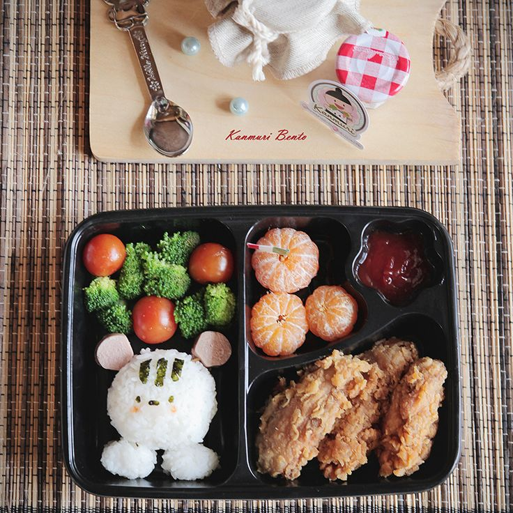 Your kids do not want to eat? Order this bento box from @kanmuribento. Location: Bandung