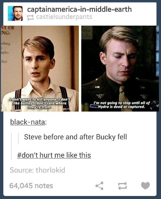 """I can't say that I can blame Steve for this. It became a personal war when Bucky fell, something I'm sure he didn't fully consider happening. I'm sure it's something they didn't talk about, didn't really map out as a """"what if"""" or """"just in case"""". And what more could Steve possibly consider an option, other than to make sure no one would hurt like this again?"""