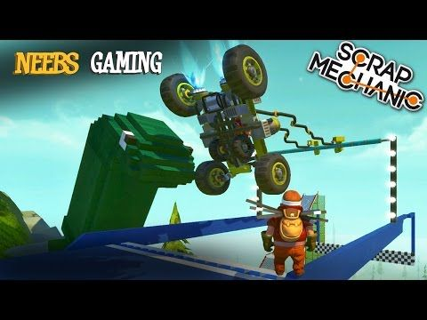 Scrap Mechanic - Super Fantastic Obstacle Course Challenge! - YouTube