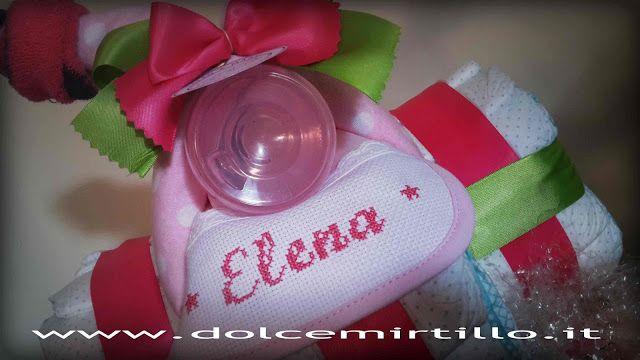 Triciclo di pannolini Per Elena