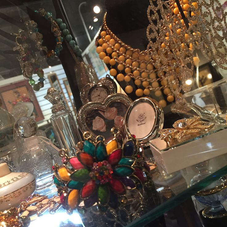 Various sizes and styles of estate jewelry