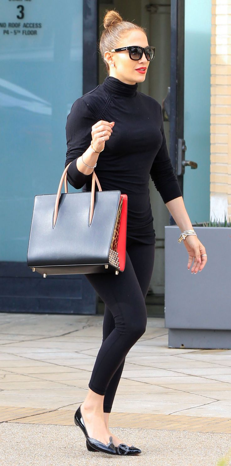 Jennifer Lopez's Most Envy-Inducing Street Style Looks - March 4, 2016: Lopez channeled Audrey Hepburn last spring with this chic black-on black ensemble.
